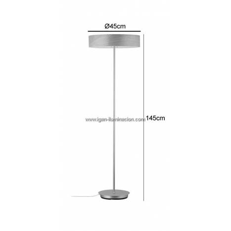 Lámpara de pie Liska 3L E27 madera - Paulmann