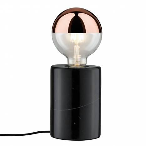 Lámpara de mesa Nordin 1L E27 negro - Paulmann