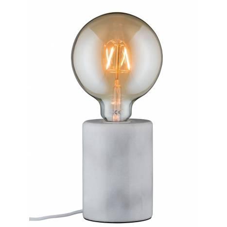 Lámpara de mesa Nordin 1L E27 blanco - Paulmann