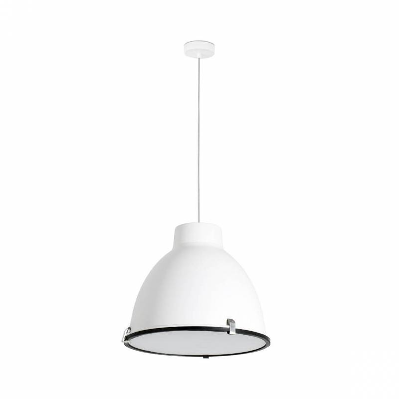 Lámpara colgante Charlotte 1L E27 blanco - Faro