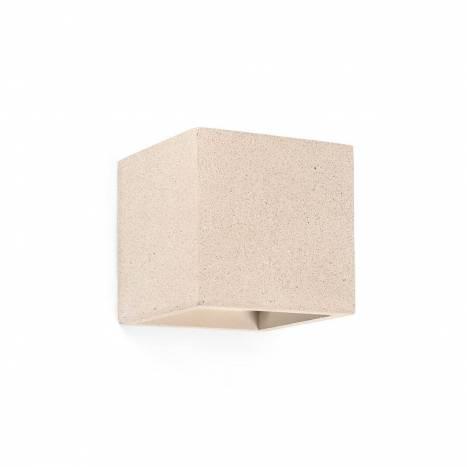 Aplique de pared Kamen cemento beige - Faro