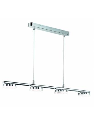 Lampara colgante Rennes LED 4 luces cromo