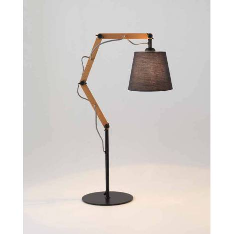 AROMAS Teo table lamp 1L wood and fabric