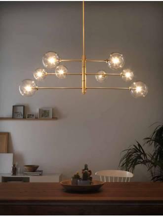 Lámpara de techo Atom 8L G9 laton - Aromas