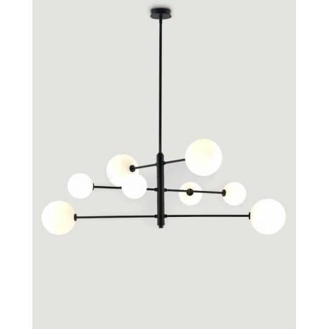 Lámpara de techo Atom 8L G9 negro - Aromas