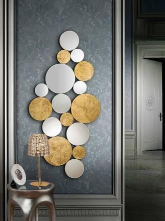 SCHULLER Cirze wall mirror gold 70x90cm