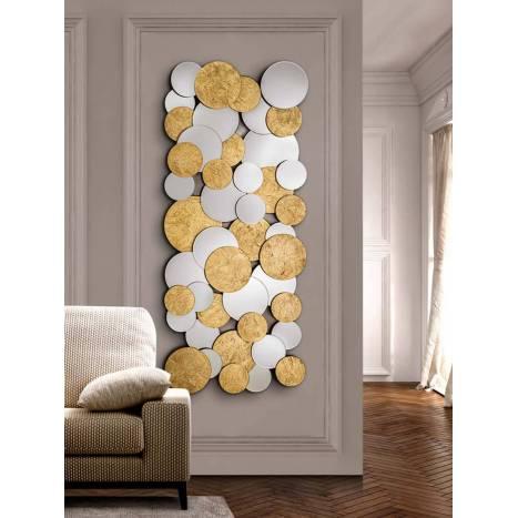 Espejo de pared Cirze oro 140x60cm - Schuller