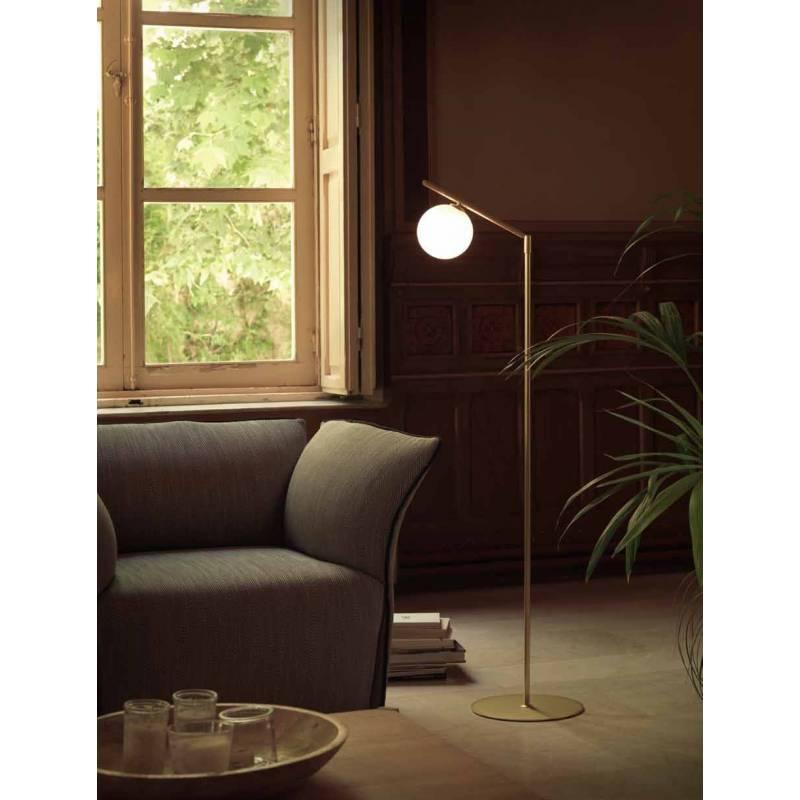 Aromas Endo 1l Floor Lamp Chrome Metal And Glass