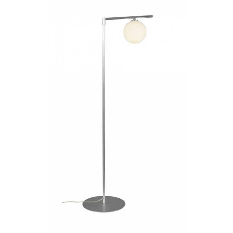 Aromas endo 1l floor lamp chrome metal and glass for Made chrome floor lamp
