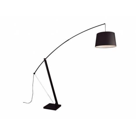 Lámpara de pie Archer 1L E27 negro - Aromas