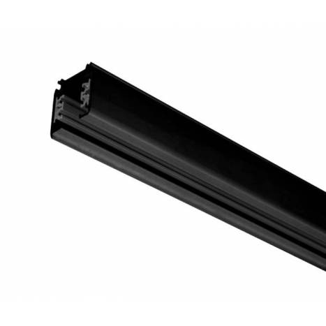 Carril trifasico con conector + tapa final negro