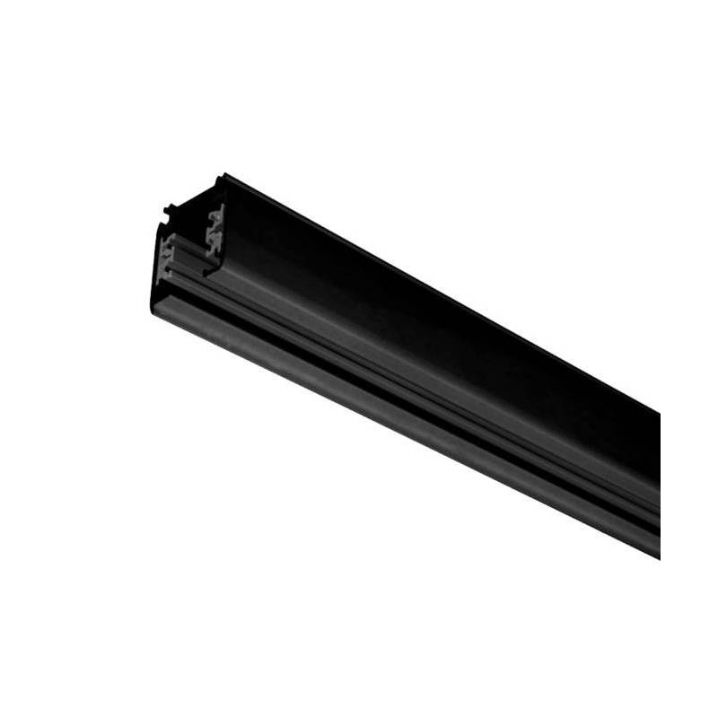 Track rail with connector end cap black