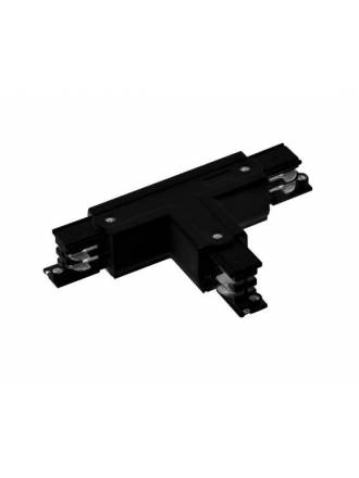 Three phase track T union black