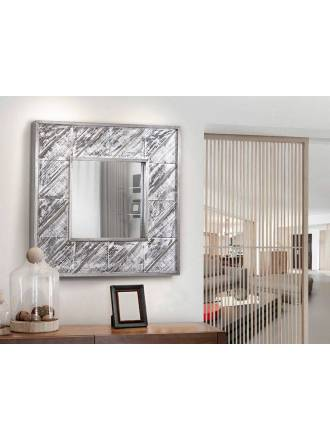 SCHULLER Alpes wall mirror 80x80cm aluminium