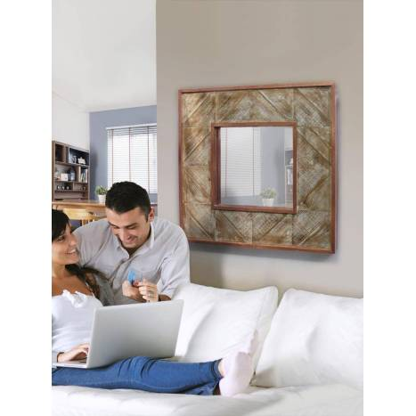 SCHULLER Alpes wall mirror 80x80cm copper