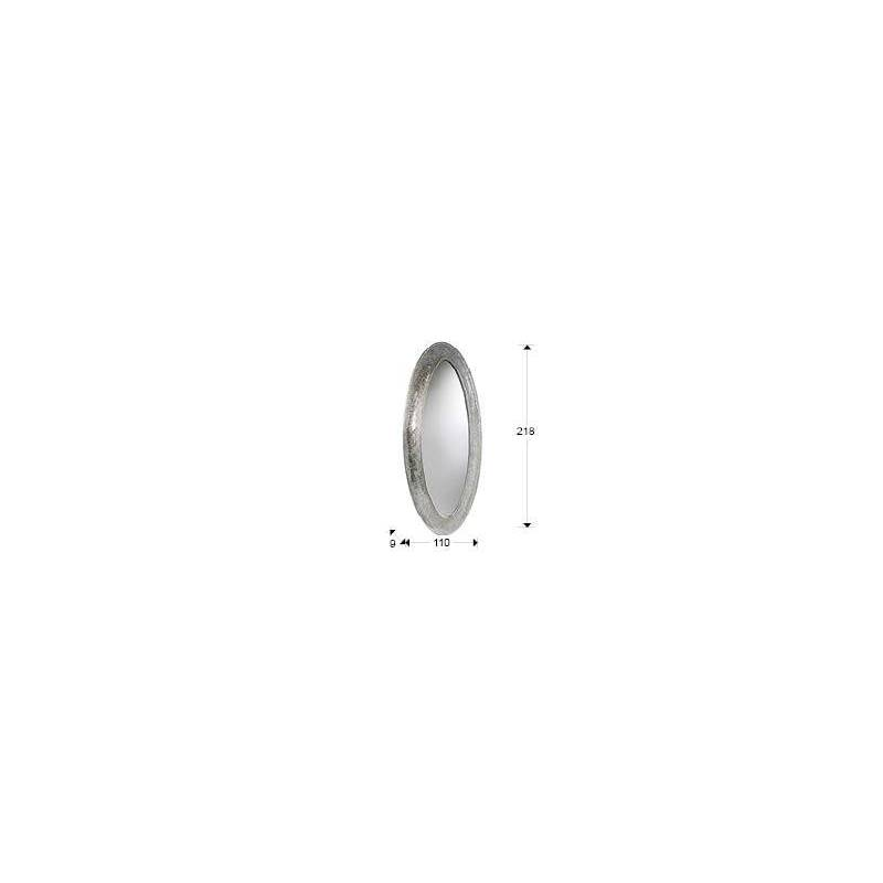 espejo de pared gaudi oval cm schuller
