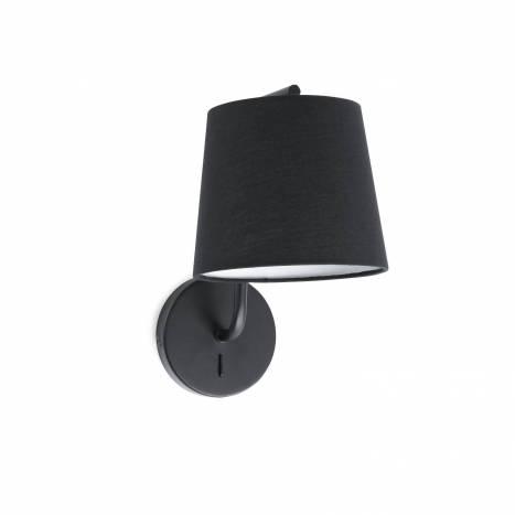 Aplique de pared Berni 1L E27 negro - Faro