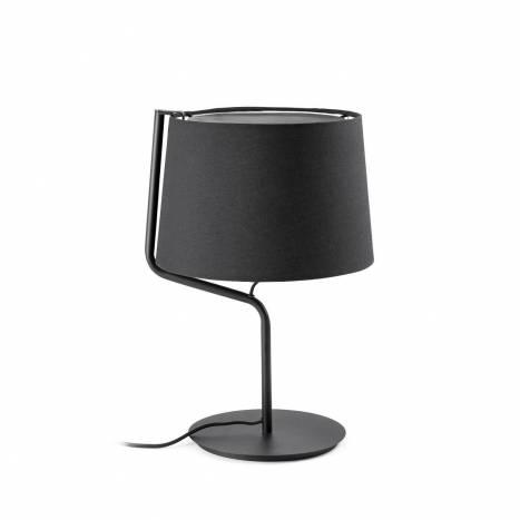 Lámpara de mesa Berni 1L E27 negro - Faro