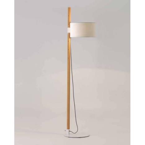 AROMAS Riu 1L E27 floor lamp wood