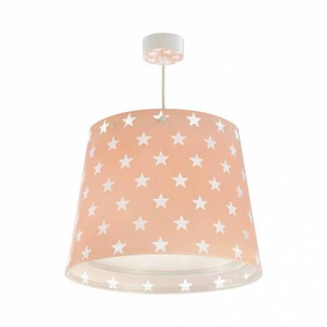 Lámpara colgante infantil Stars rosa - Dalber