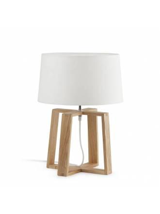 FARO Bliss 1L E27 table lamp wood