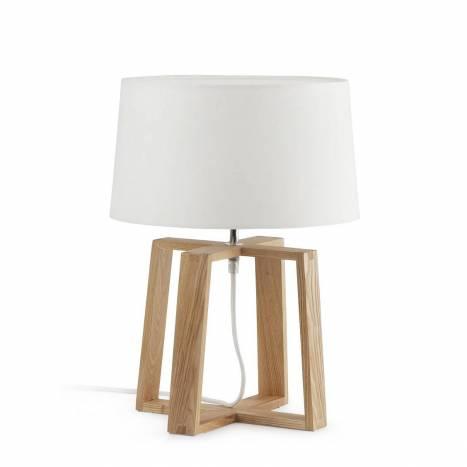 Lámpara de mesa Bliss 1L E27 madera - Faro