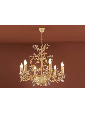 SCHULLER Verdi 6L E14 pendant lamp gold