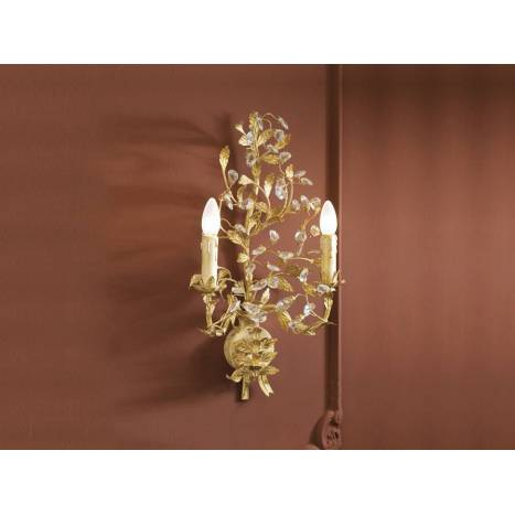SCHULLER Verdi 2L E14 wall lamp gold