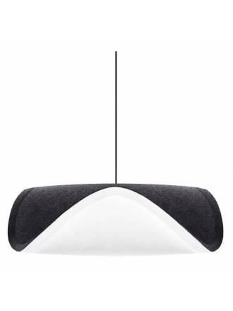 Lámpara colgante Sine 1L E27 tela - Vita