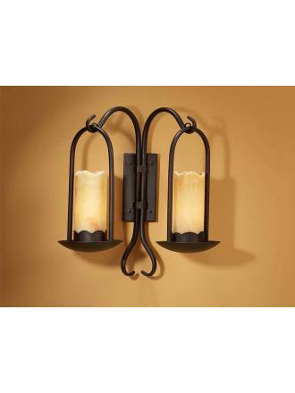 Aplique de pared Candela 2 luces oxido - Schuller