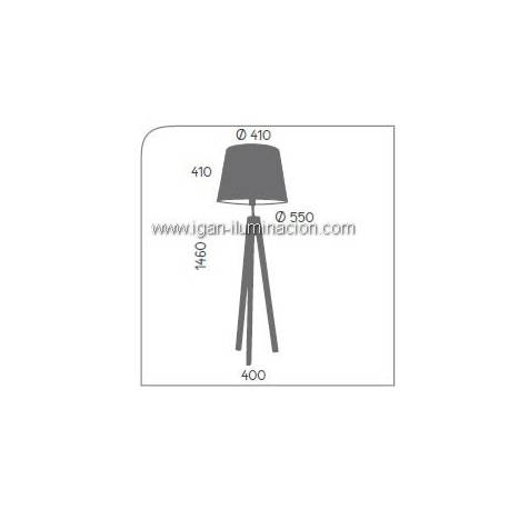AROMAS Trip floor lamp 1L wood