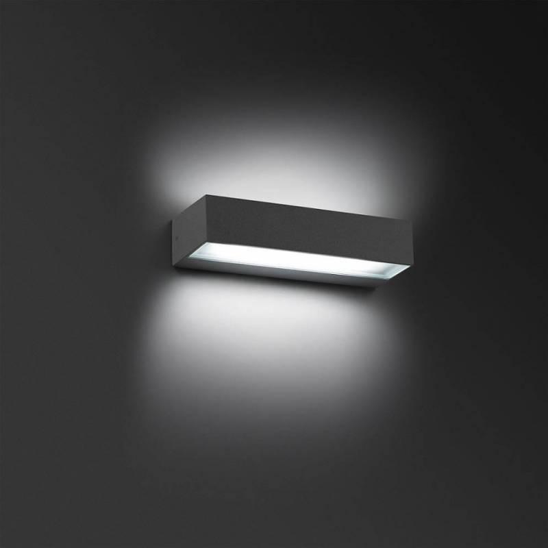Aplique de pared toluca led 16w ip54 gris faro - Aplique pared led ...