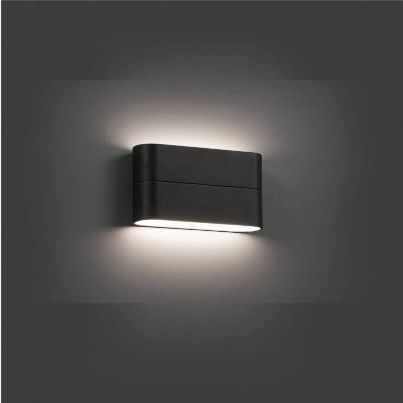 Aplique de pared aday 2 led 12w gris faro - Aplique pared led ...