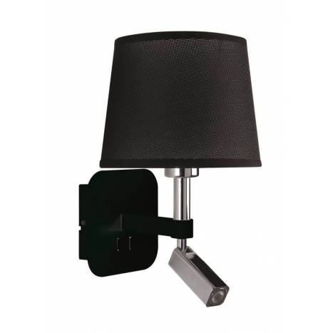Aplique de pared Habana E27 + LED 3w negro - Mantra
