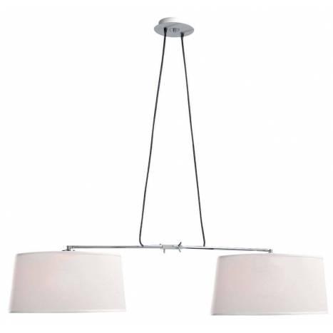Lámpara colgante Habana 2L E27 blanco - Mantra