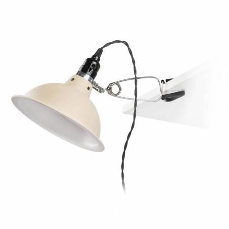 Lámpara pinza Pepper 1L E27 beige - Faro
