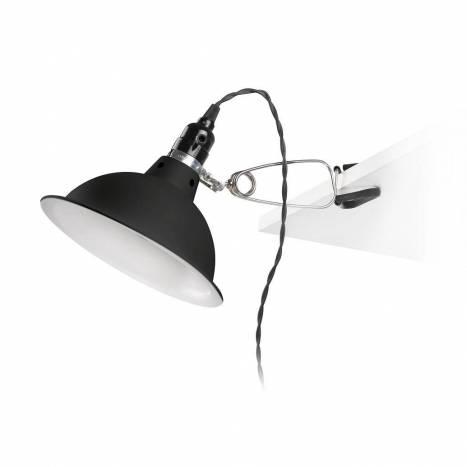 Lámpara pinza Pepper 1L E27 negro - Faro