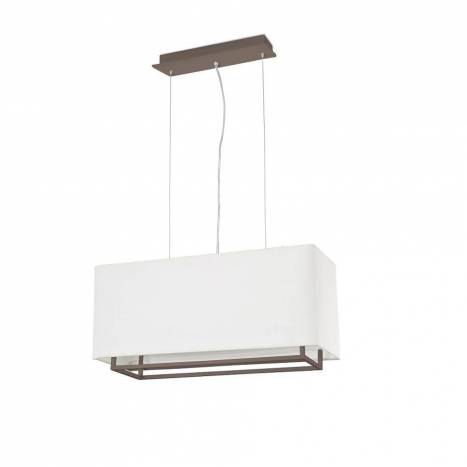 FARO Vesper 2L E27 pendant lamp brown