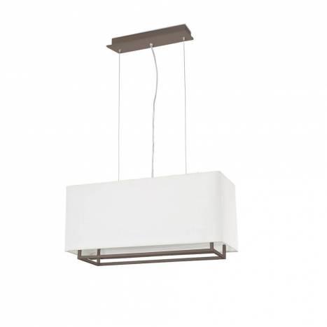 Lámpara colgante Vesper 2L E27 marrón - Faro