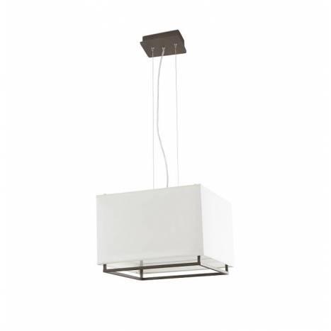 Lámpara colgante Vesper 3L E27 40x40 marrón - Faro