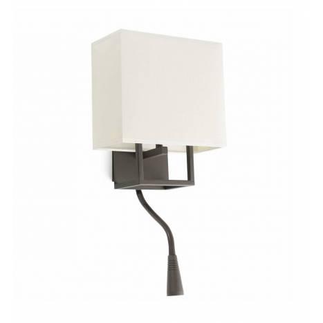 Aplique de pared Vesper E14 + LED marrón - Faro