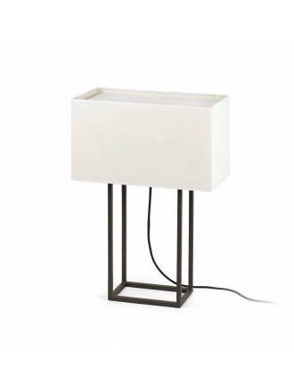 Lámpara de mesa Vesper 2L E27 marrón - Faro