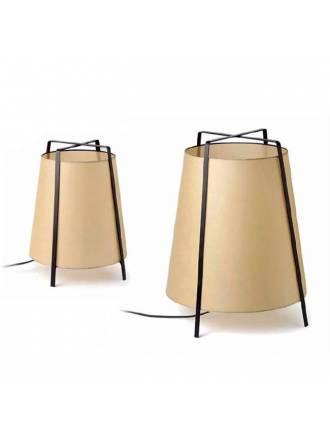 Lámpara Akane 1L E27 papiro beige - Faro