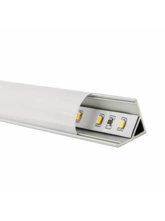 Perfil aluminio 2mts esquinero - Maslighting