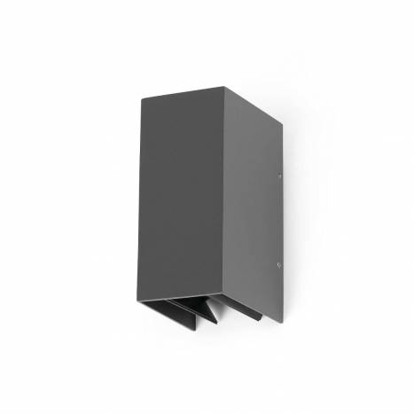 FARO Blind outdoor wall lamp IP54 LED 2x3w grey