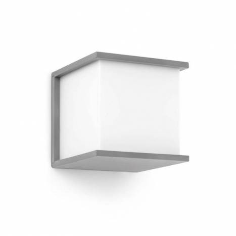 FARO Kubick outdoor wall lamp silver