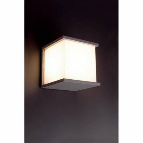 FARO Kubick outdoor wall lamp silver
