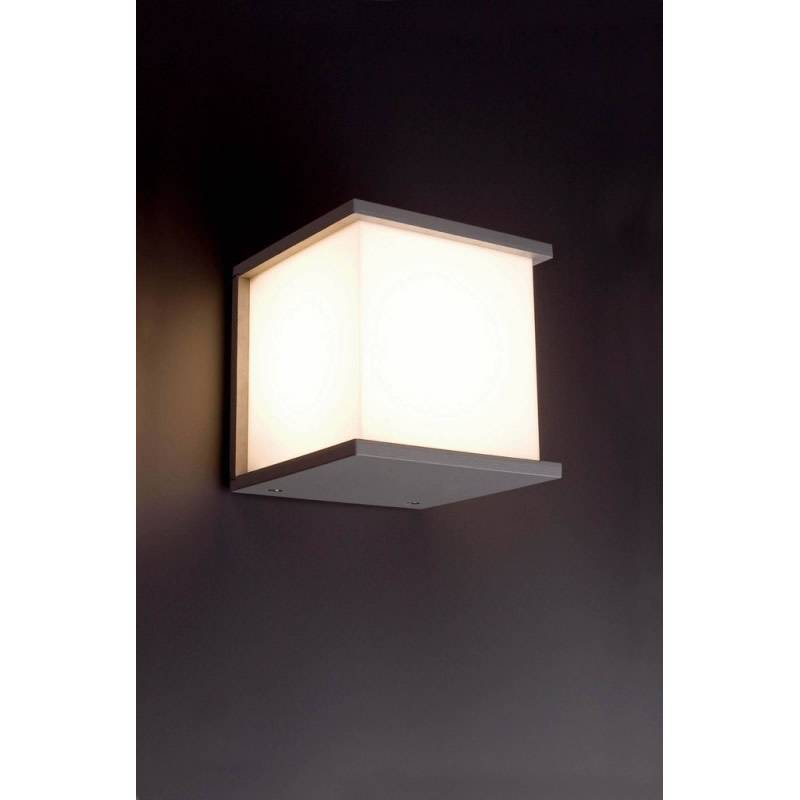Aplique de pared kubick 1 luz e27 gris claro faro for Color gris claro para paredes