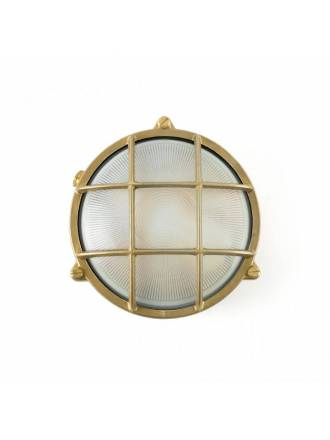 FARO Noray outdoor wall lamp 1L brass