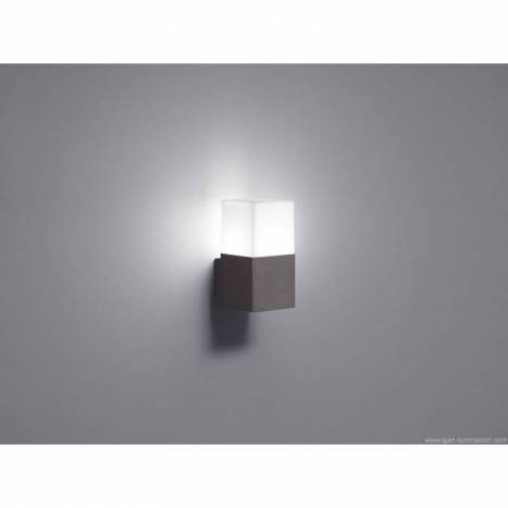 Aplique de pared Hudson 1 luz LED gris pizarra - Trio